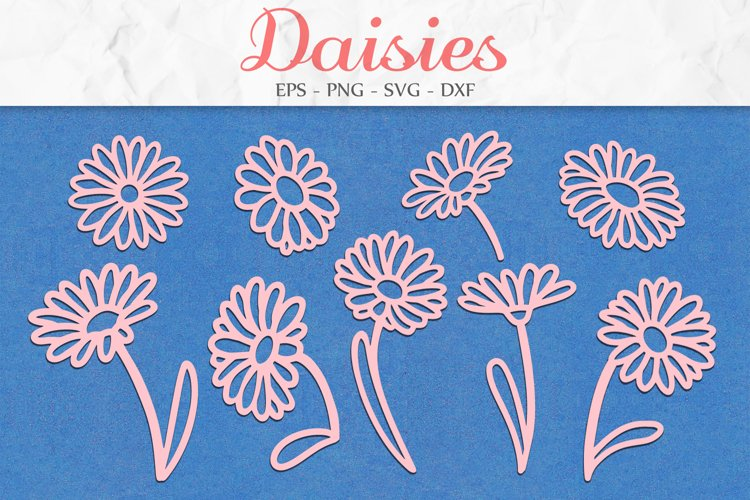 Daisy SVG, Floral Clipart, Flowers SVG, Mothers Day SVG example image 1