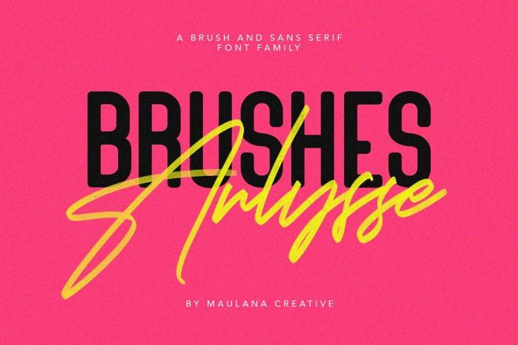 Arlysse SVG Brush Font Free Sans Serif Typeface example image 1