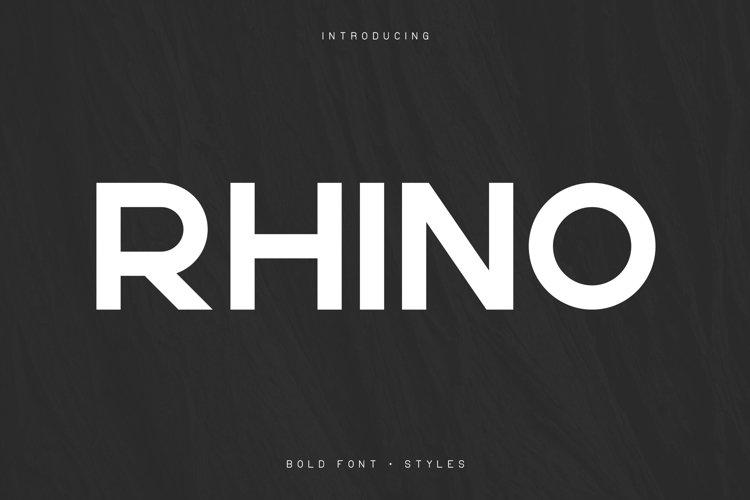 Rhino Bold font Styles example image 1
