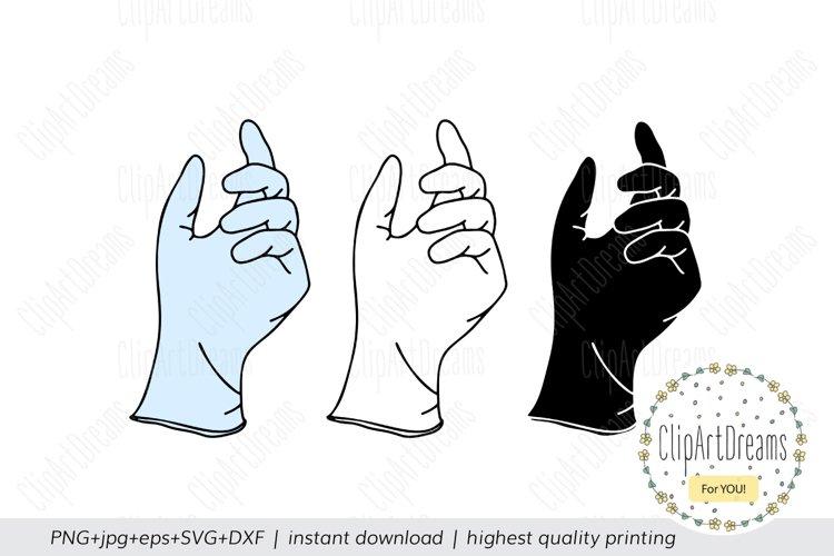 Medical gloves SVG, Medical Nursing Surgical cut files