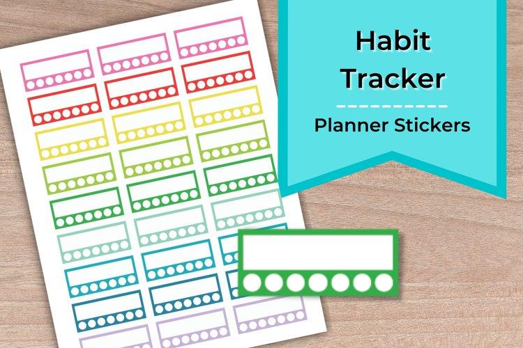 Habit Tracker Planner Stickers