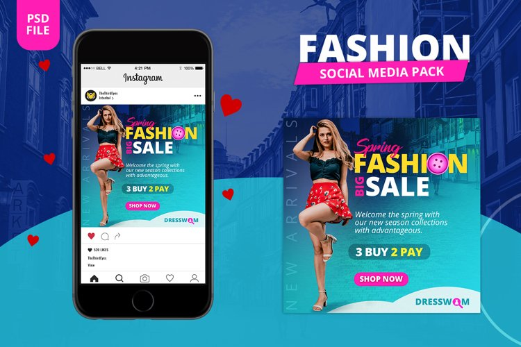 Fashion Social Media Pack example image 1