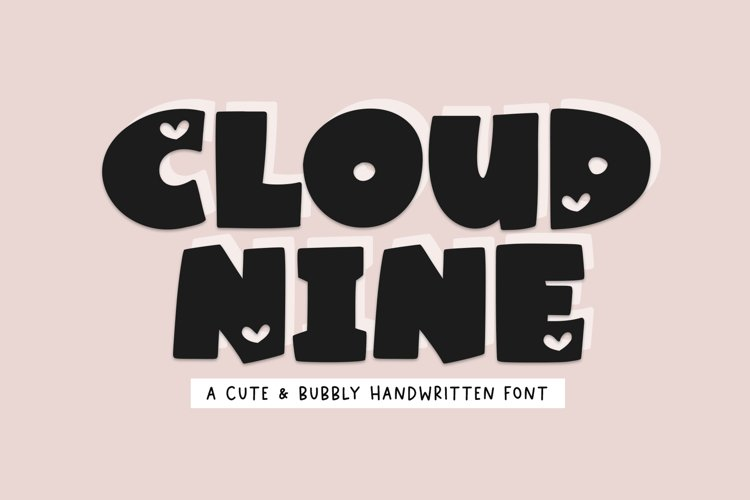 Cloud Nine - A Bold Handwritten Font example image 1