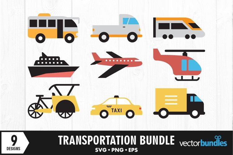 Transportation vehicle clip art bundle svg example image 1