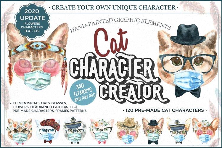 Watercolor Cats.Animal creator