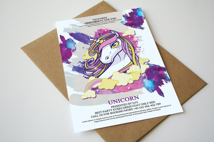 Unicorn Birthday Party Invitation example image 1