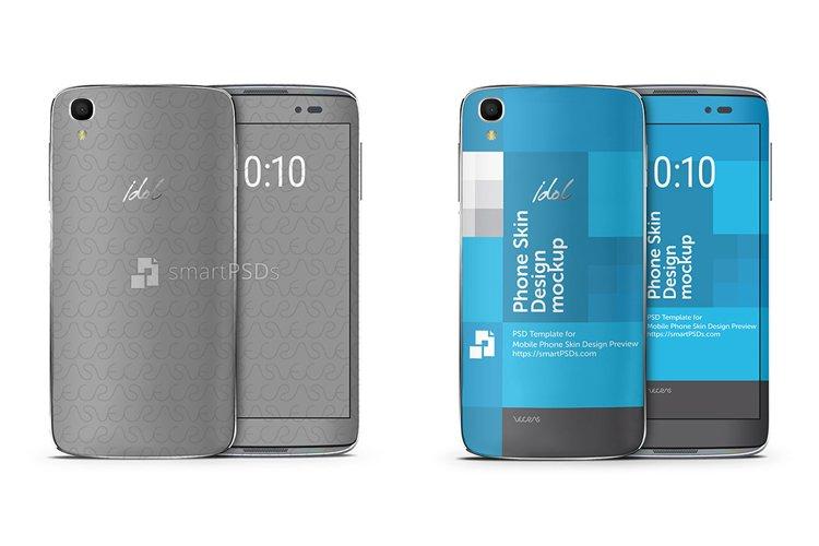 Alcatel Idol 3 5-5 Mobile Skin Design Template example image 1