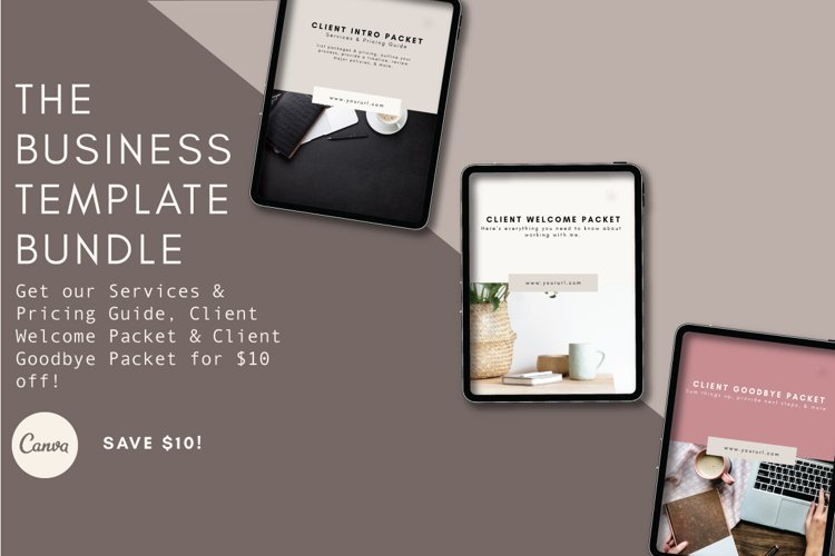 Business Template Bundle | Pricing Guide | Welcome Packet example image 1