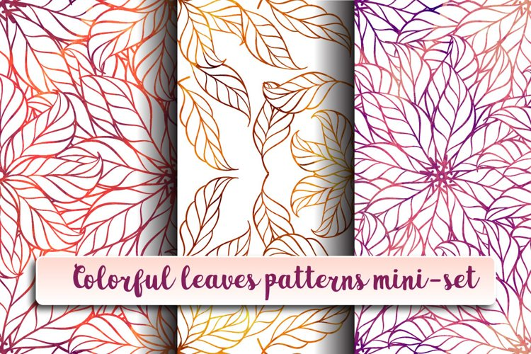Colorful leaves patterns mini-set