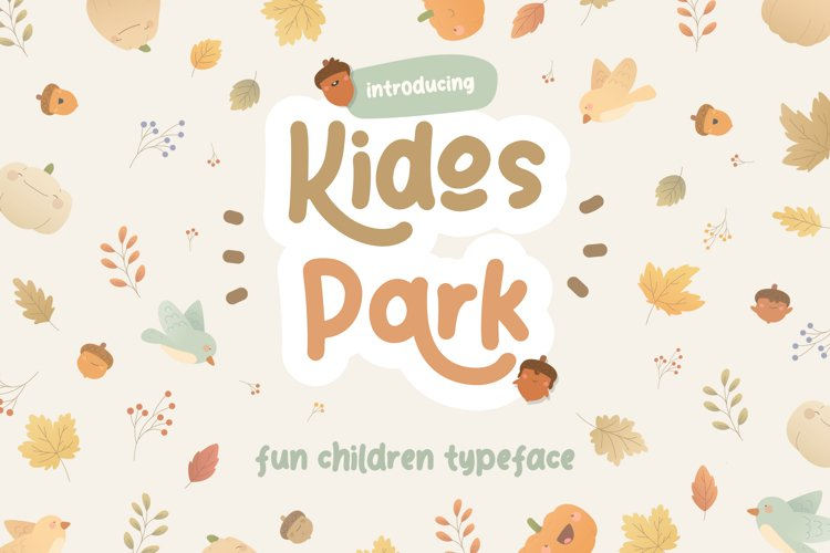 Kidos Park Fun Children Typeface example image 1