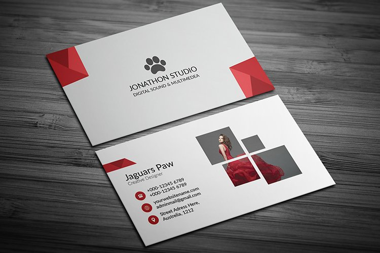Professional Photography Business Card Template Design example image 1