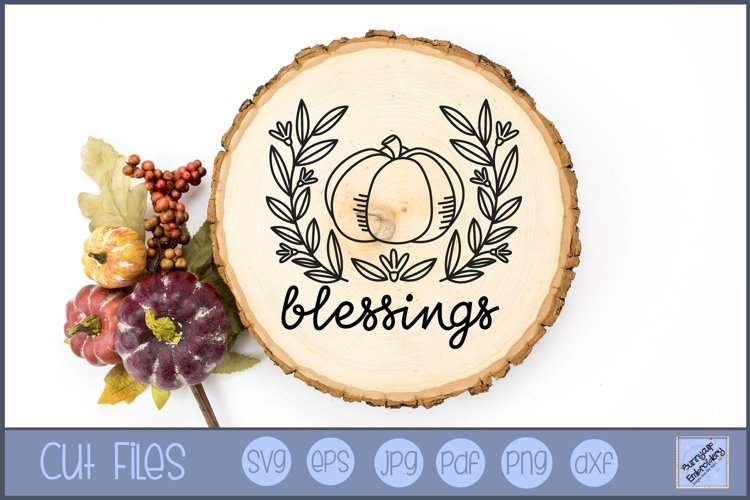 Pumpkin Blessings - SVG, Clipart, Graphic