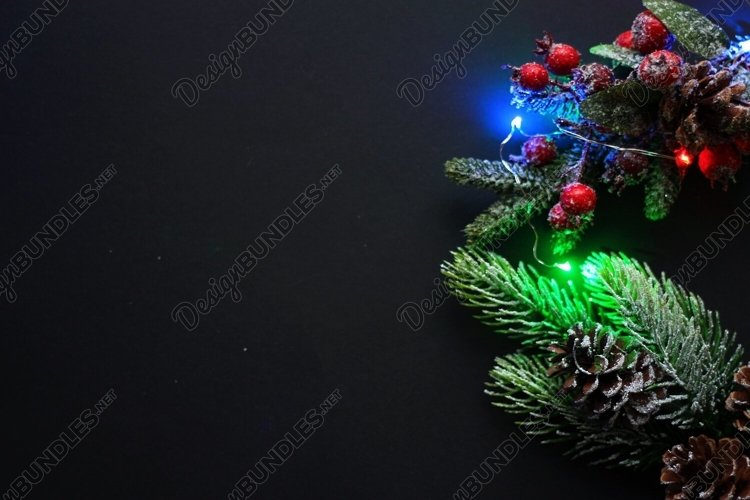 Glowing festive Christmas composition