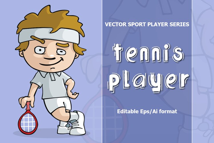 VECTOR tennis player example image 1
