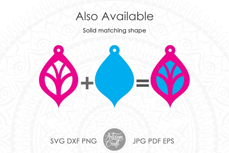 Earring template SVG, Floral earrings SVG example 2
