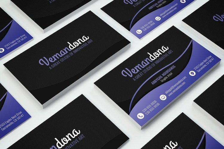 Dark Modern Business Card 2 example image 1