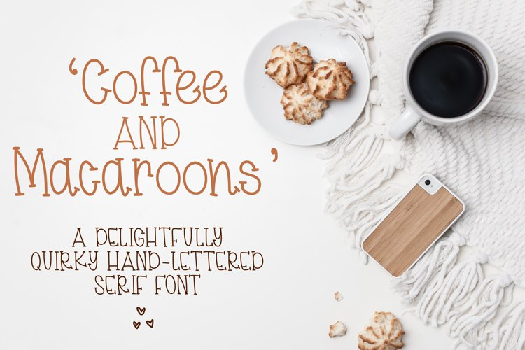 Coffee & Macaroons - Hand lettered Font example image 1