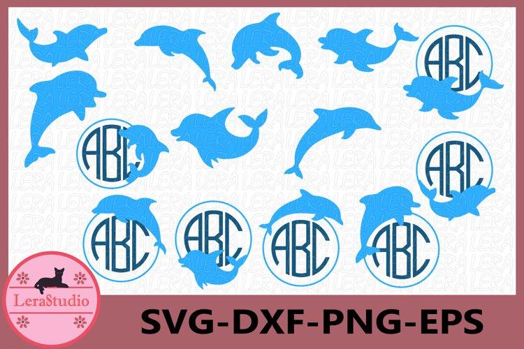 Dolphin Svg, Dolphin Monogram Svg, Dolphin Clipart, Nautical