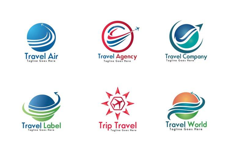 Travel logos set design. example image 1