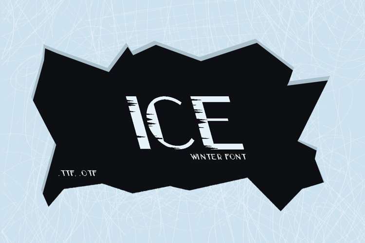 Cold winter font ICE example image 1
