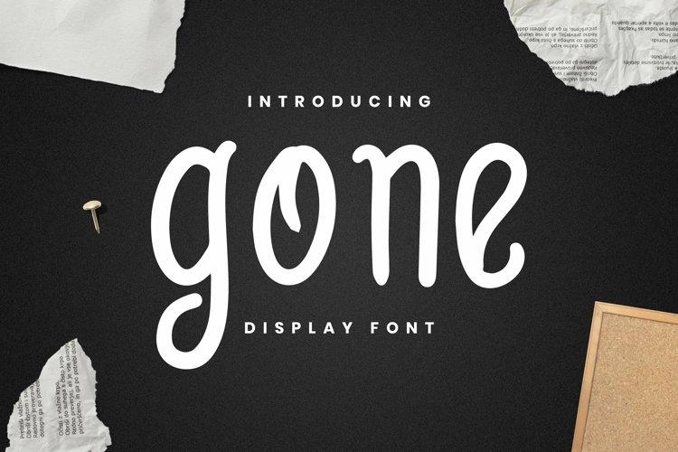 Web Font Gone Font example image 1