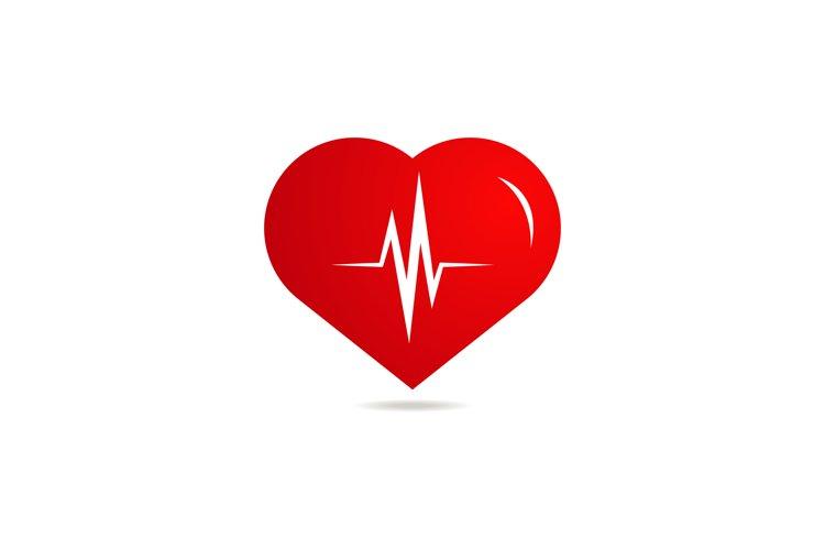 heartbeat vector logo example image 1