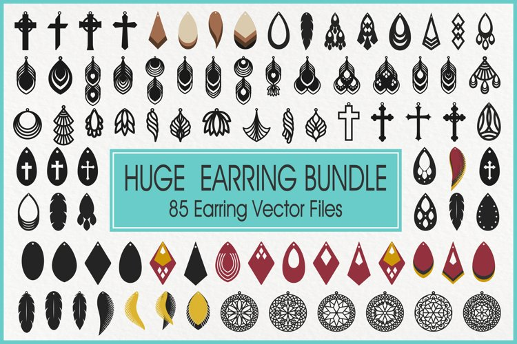 Earrings Svg, Faux Leather Earrings Svg, Teardrop Earrings