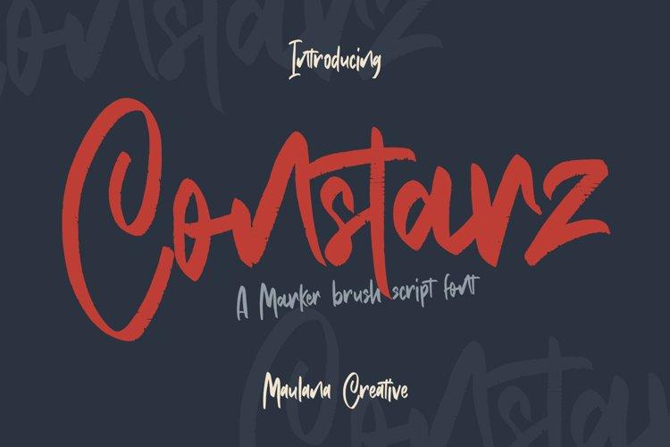 Constarz Marker Brush Script Font example image 1