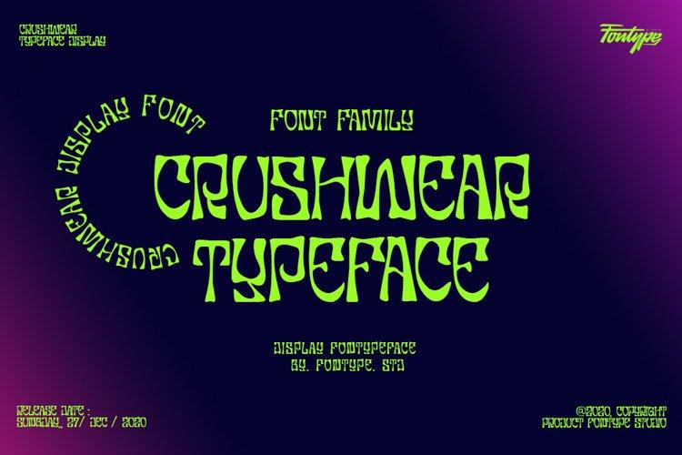 Crushwear - Display Font Family