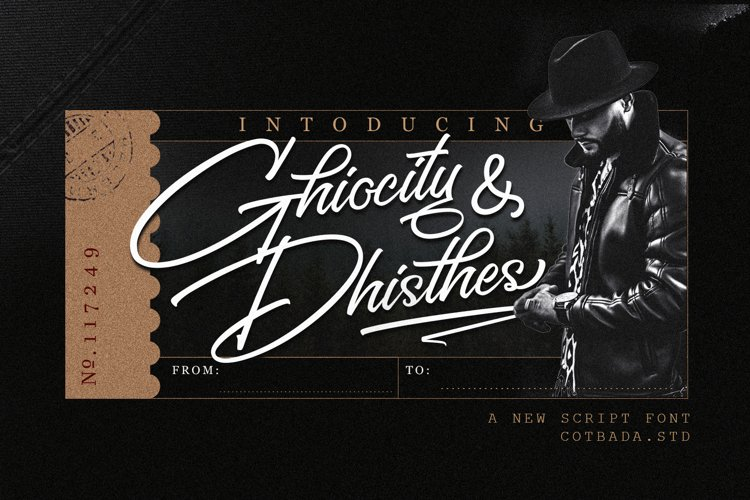 Web Font Ghiocity and Dhisthes Font Script example image 1
