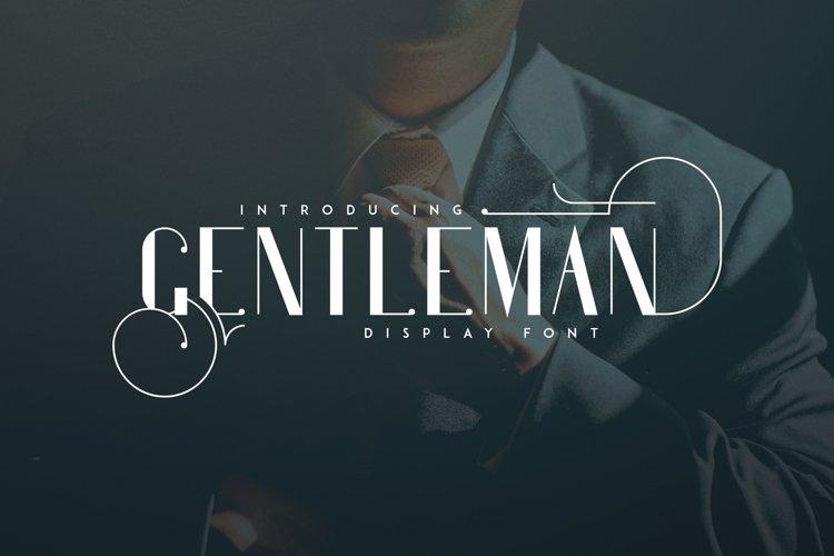 Gentleman font  10 Logo Templates