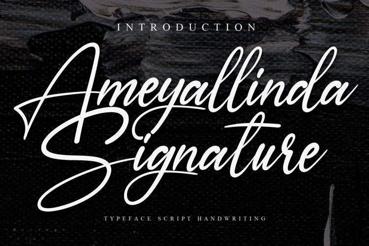 Ameyallinda Signature example image 1