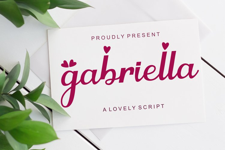 Gabriella - Lovely Script Font example image 1
