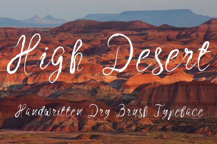 High Desert Script example image 1