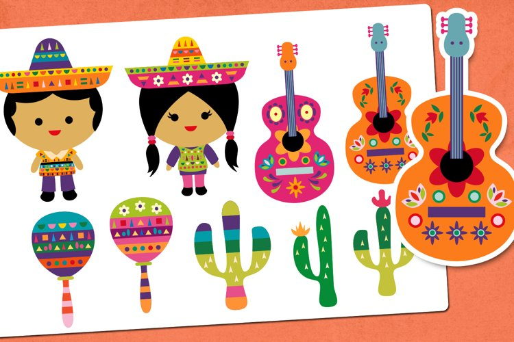 Fiesta Mexican Party Illustrations