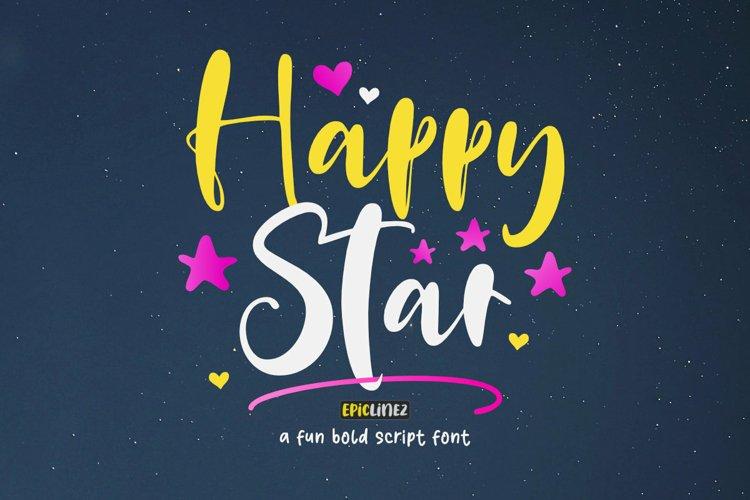 Happy Star - A Fun Bold Script Font example image 1