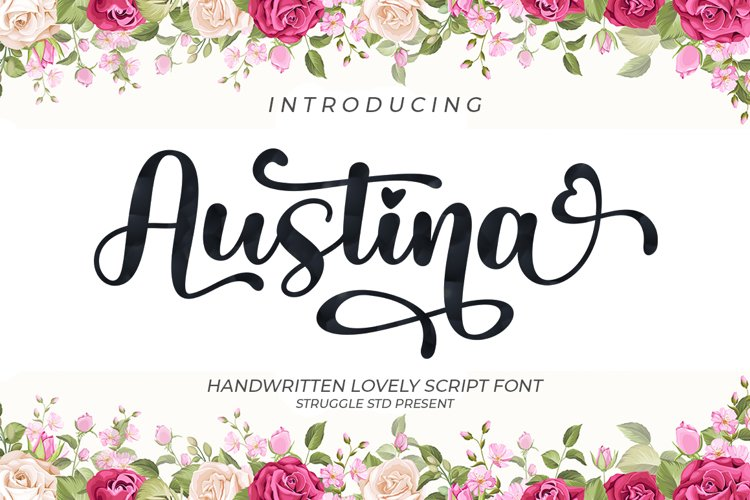 Austina - Lovely Script Font example image 1