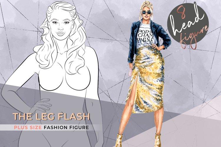 The Leg Flash  Plus size Fashion Figure