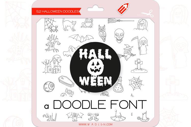 Halloween Doodles - Dingbats Font example image 1