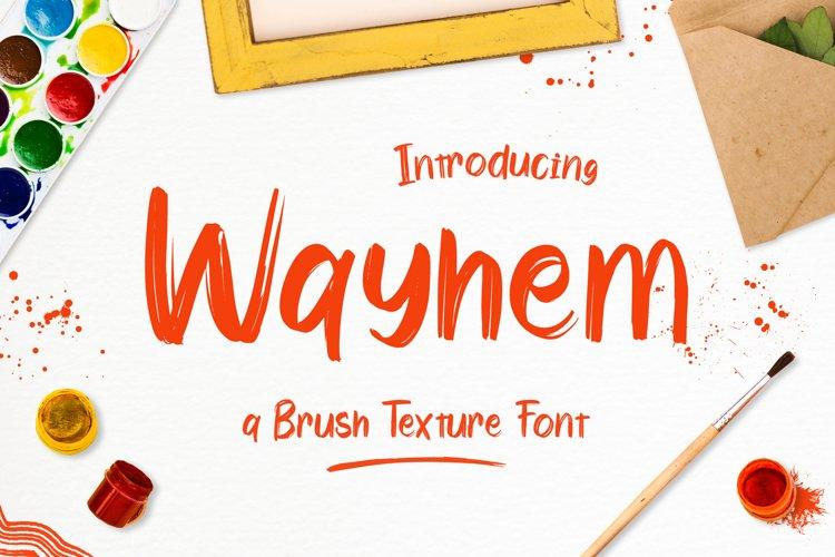 Wayhem - Textured Brush Font example image 1