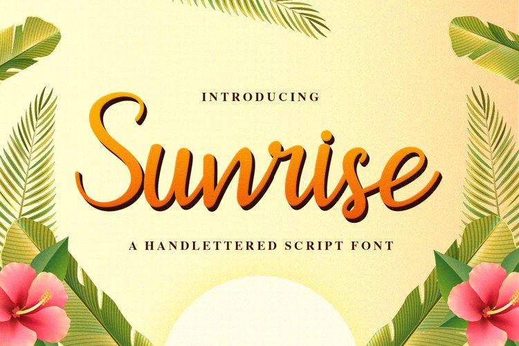 Sunrise example image 1