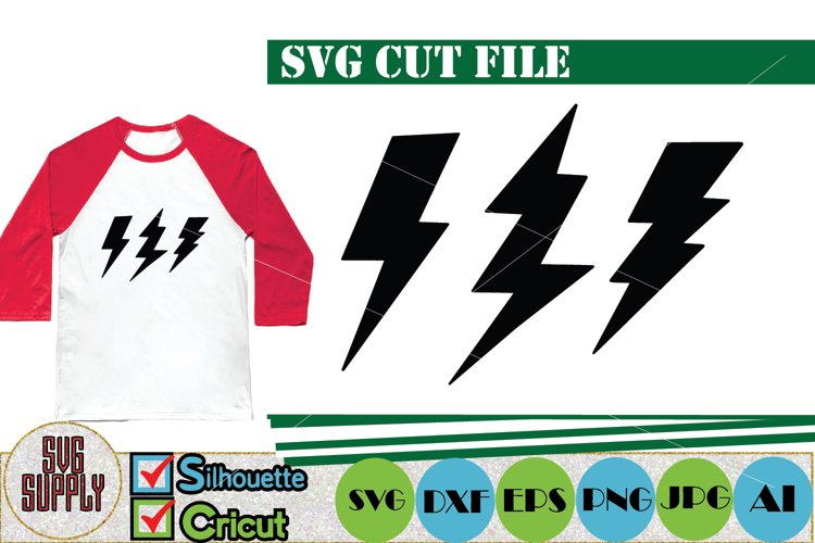 Lightning Bolt SVG Cut File