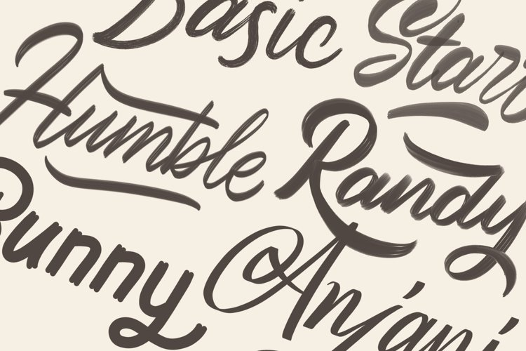 Procreate Lettering Brushes - Free Design of The Week Design3