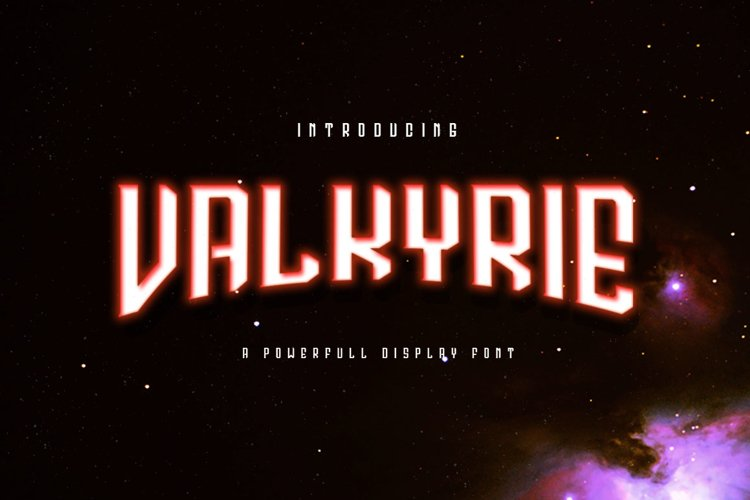 Valkyrie Typeface example image 1