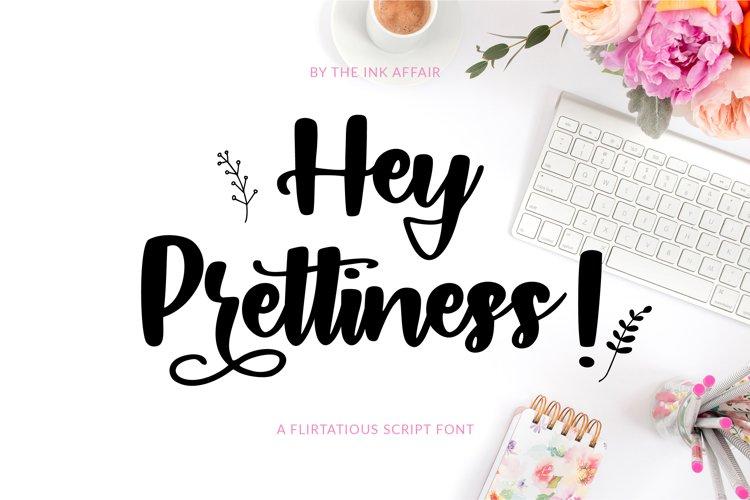 Hey Prettiness! Font & Bonus Vectors example image 1