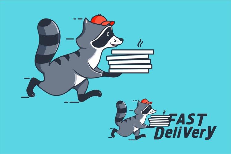 Funny Raccoon, cartoon character example image 1