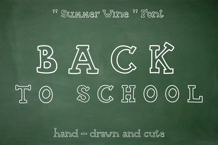 Summer Wine - hand drawn font example image 1