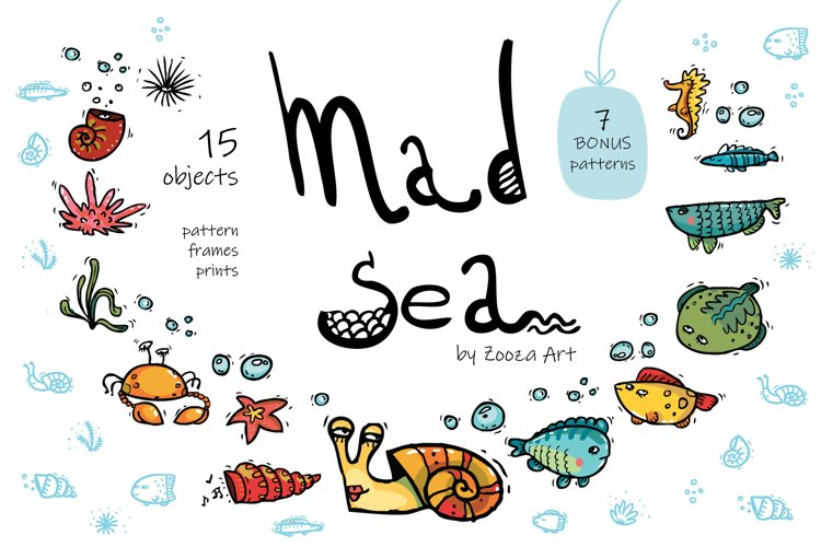 Mad Sea collection - 15 elements example image 1