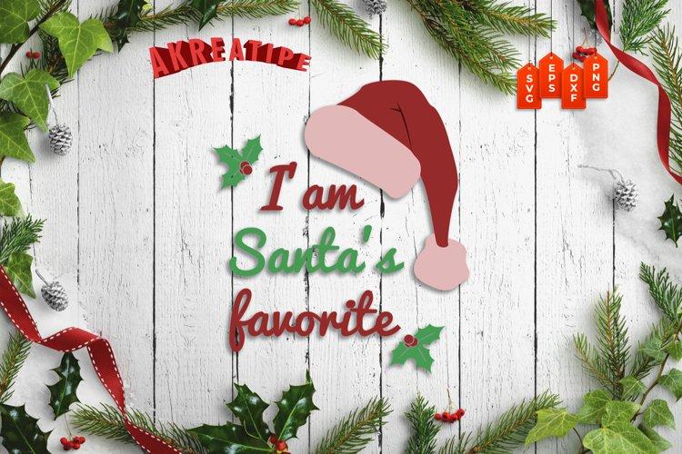I am Santa's Favorite Christmas SVG Christmas Ornament example image 1