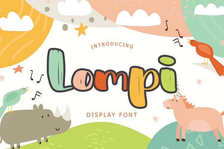 Lompi Bold Brush Display Font